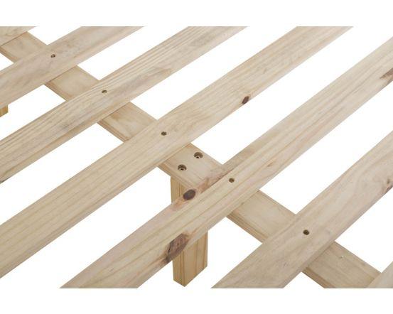 Noah Oak Slatted Bed Frame