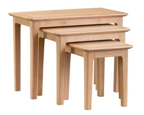 Noah Oak Nest Of 3 Tables