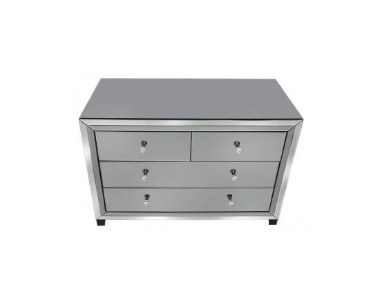 Oliver Smoked Glass Chest of Drawers