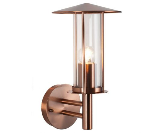 Outdoor Copper Metal Chimney Style Wall Light
