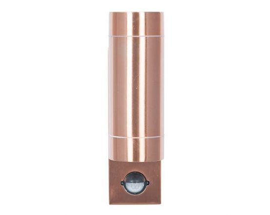 Outdoor Copper Metal Dual PIR Wall Light