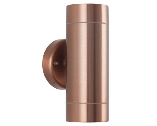 Outdoor Copper Metal Dual Wall Light