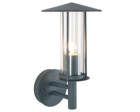 Outdoor Dark Grey Metal Chimney Style Wall Light