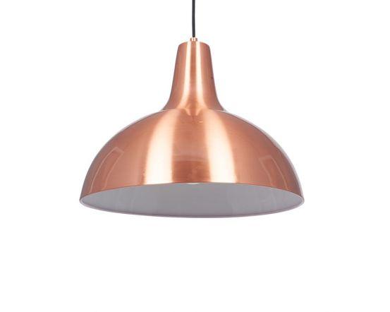 Oversized Brushed Copper Metal Pendant