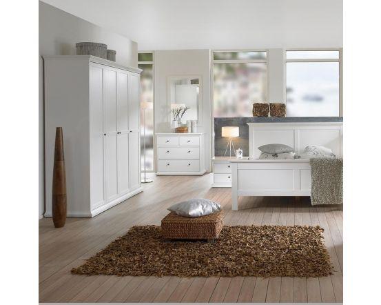 Paris 2 Drawer Bedside in White, Grey or Walnut