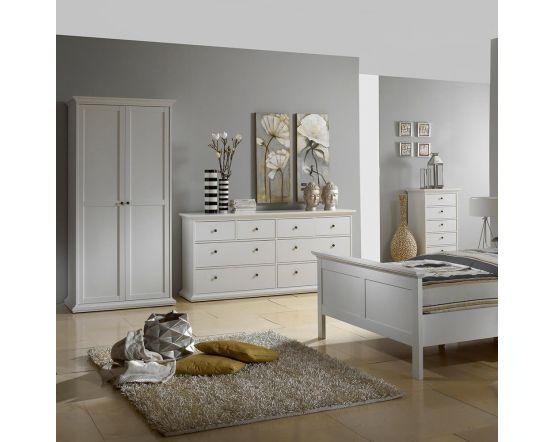 Paris Double Wardrobe White, Grey or Walnut