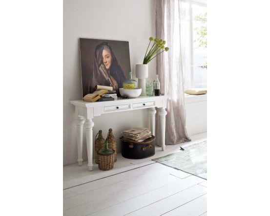 Provence White Mahogany Console Table