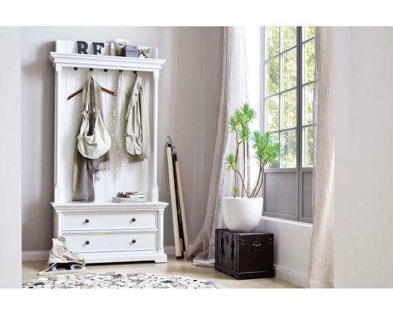 Provence White Mahogany Hall Tree