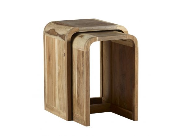 Reclaimed Wood Nest of Side Tables