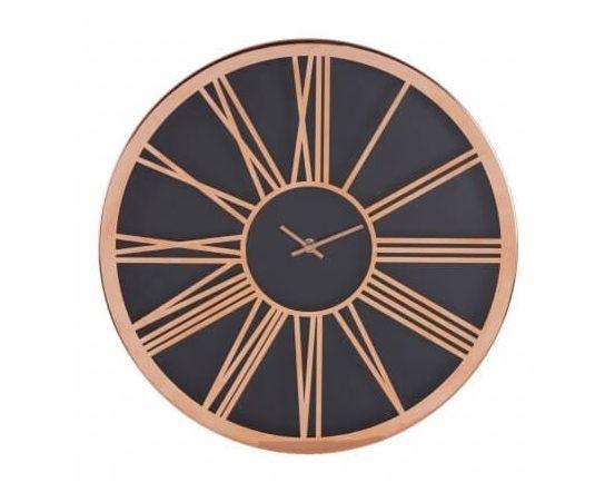 Retro Copper and Black Wall Clock