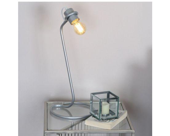 Retro Industrial Silver Metal Table Lamp