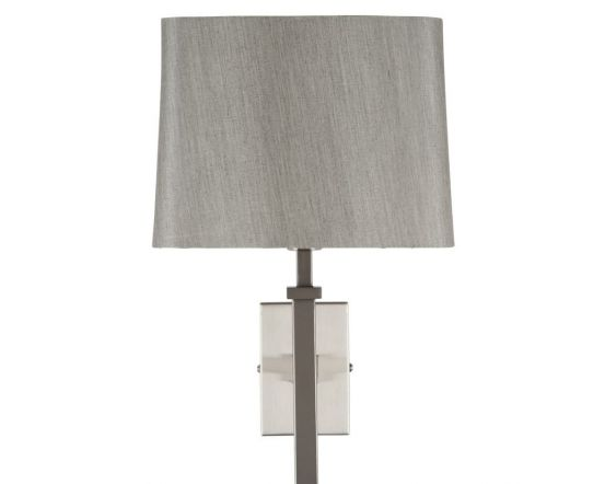 Hilton Satin Silver Metal Wall Light