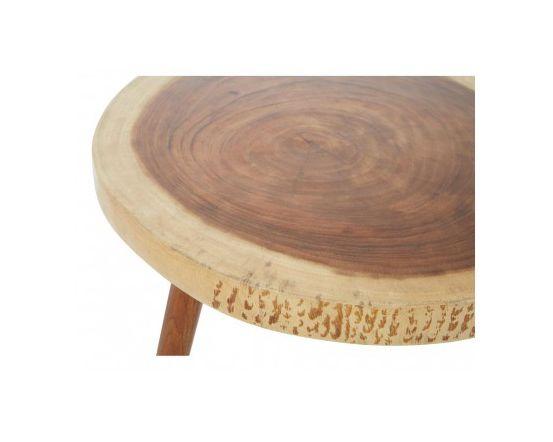 Shakir Sonokeling Wood Top Side Table