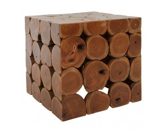 Shakir Square Teak Wood Stool