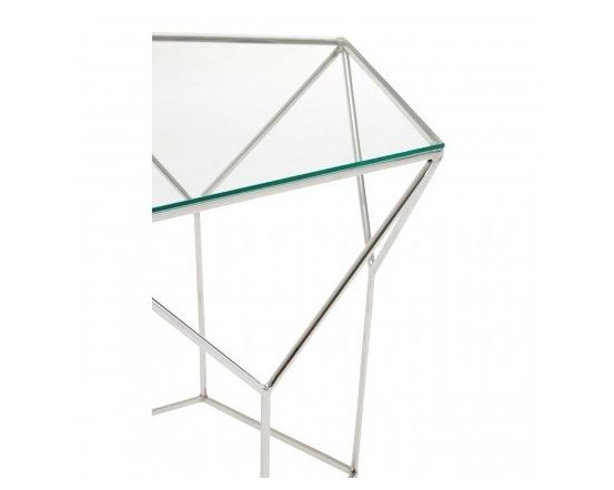 Shazaar Steel Pentagonal Coffee Table
