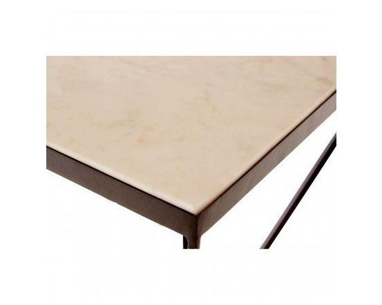 Shazaar Trapezoid Marble Side Table
