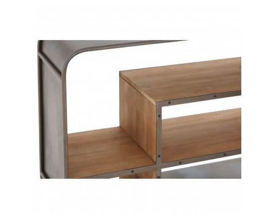 Sheldon Industrial Shelving Cabinet Fir Wood