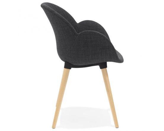 Sigrid Dark Grey Fabric Round Curve Chair