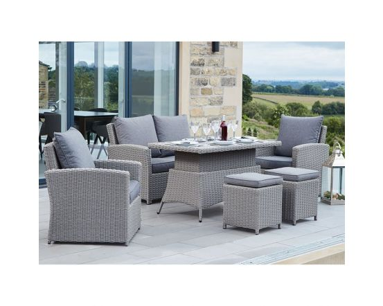 Slate Grey Barbados 2 Seater Relaxed Dining Set