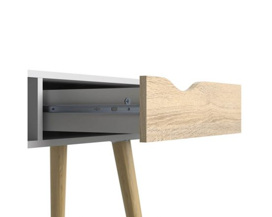 Stockholm Console Table in White with black or oak