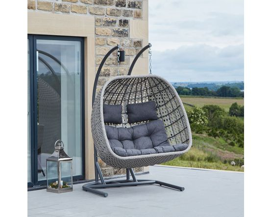 Stone Grey Double Hanging Chair