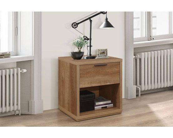 Stonehouse Rustic Effect 1 Drawer Bedside Cabinet