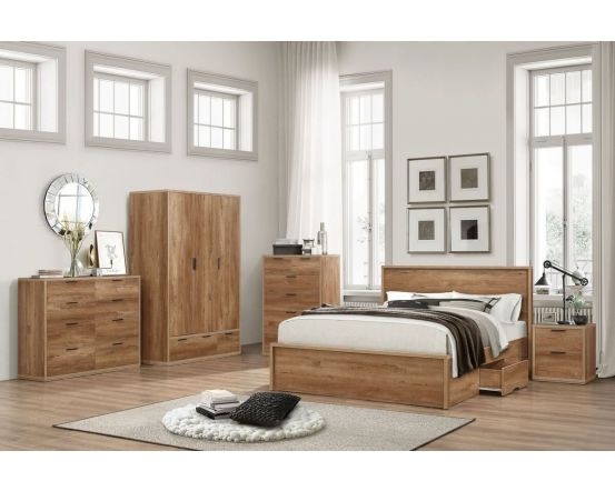 Stonehouse Rustic Effect King Size Bed Frame