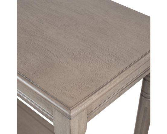 Taupe Pine Wood Rectangle Console Table