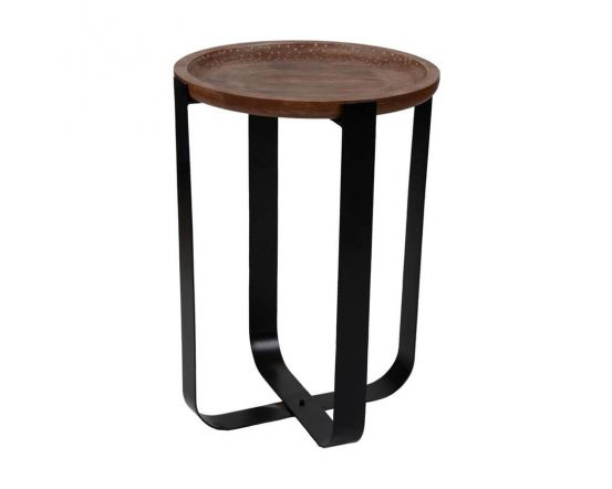 Temple Mango Wood Tray Style Side Table