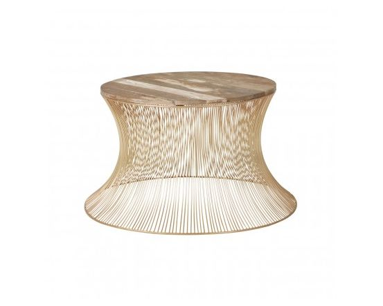 Trinity Gold Finished Wire Coffee Table