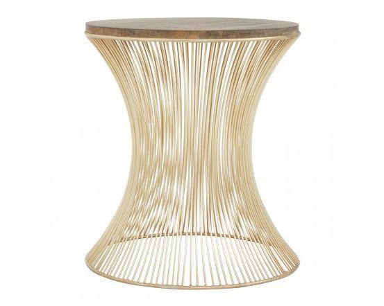 Trinity Hour Glass Design Iron Side Table