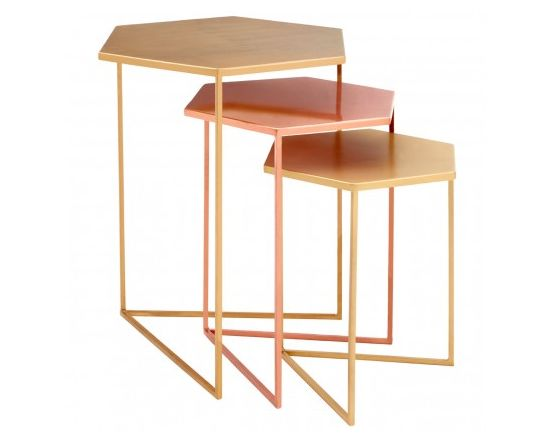 Trinity Set of 3 Bronze Finished Tables
