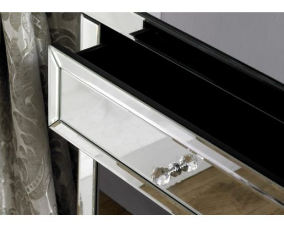 Turia Mirrored 2 Drawer Console Table