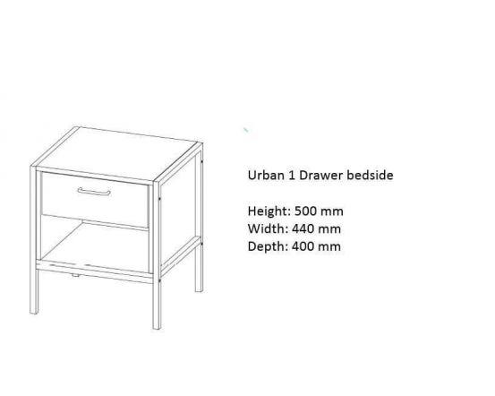 Urban 1 Drawer Bedside Chest