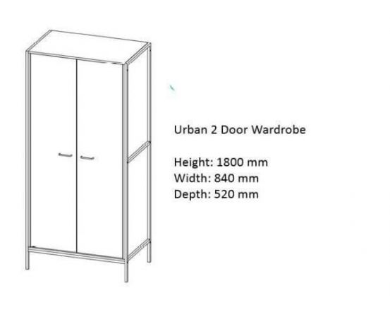 Urban Double Wardrobe
