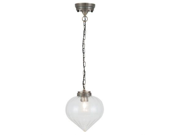 Veronica Glass and Antique Brass Tear Drop Pendant