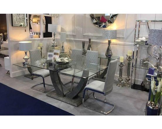 Viva Grey Dining Table Set