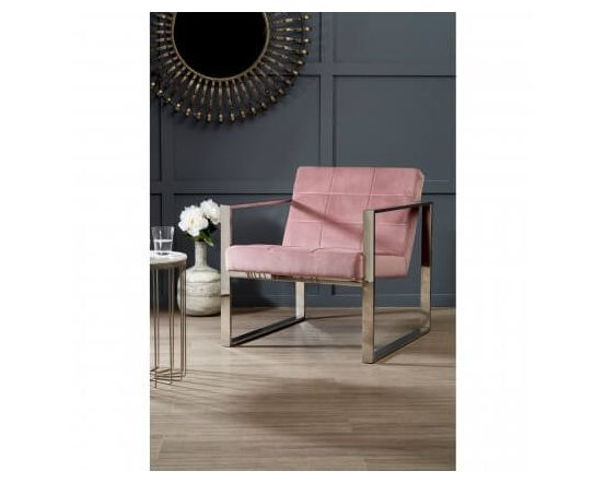 Vogue Pink Velvet Day Chair