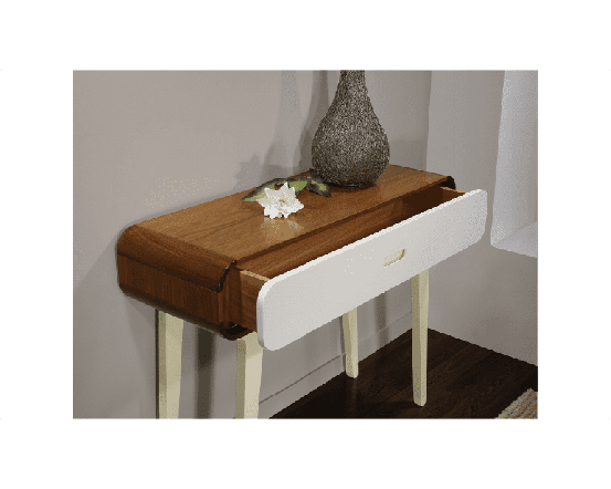 Walnut and White Console Table Arcus