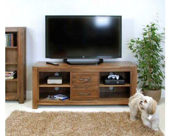 Walnut Widescreen Television Cabinet