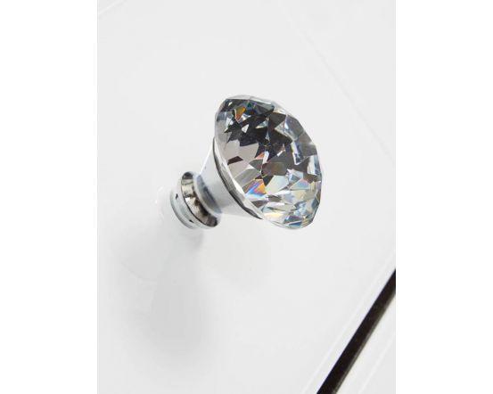 White Glass And Mirrored New York 3 Drawer Chest