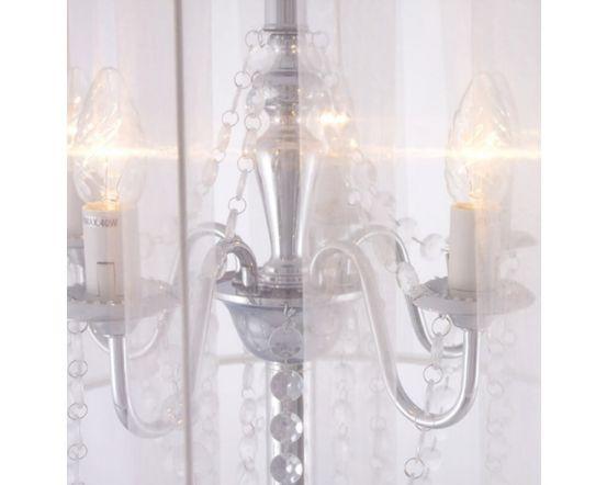 White Traditional Jewel Floor Lamp