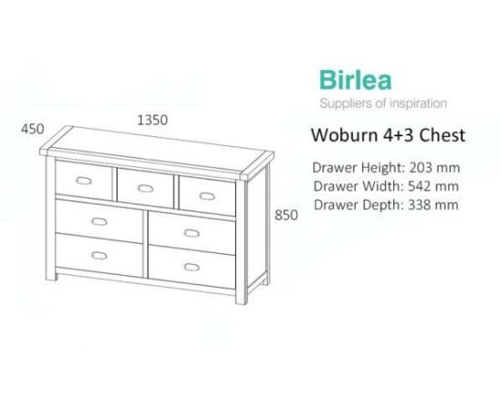 Woburn Oak 7 Drawer Wide Chest