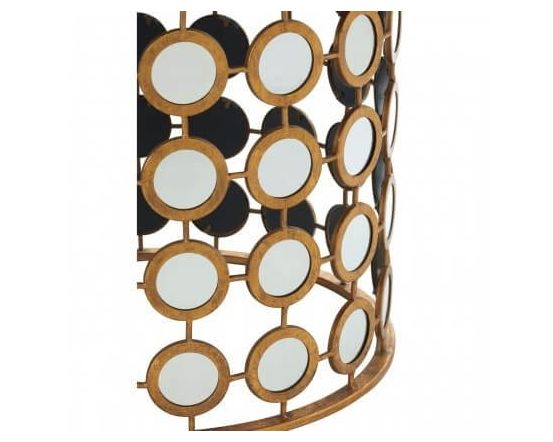 Zara Gold Finish Side Table