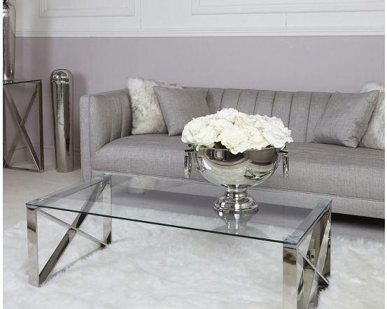 Zena Stainless Steel Coffee Table