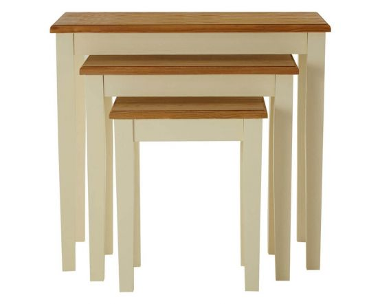 Dorset Two Tone Nest Of 3 Tables