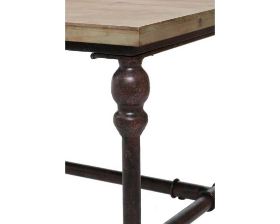 Industrial Fir Wood Side Table
