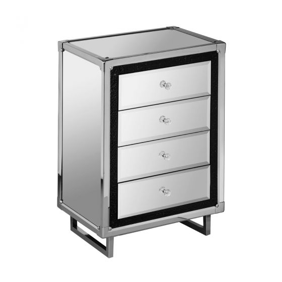 4 Drawer Unit In Stainless Steel