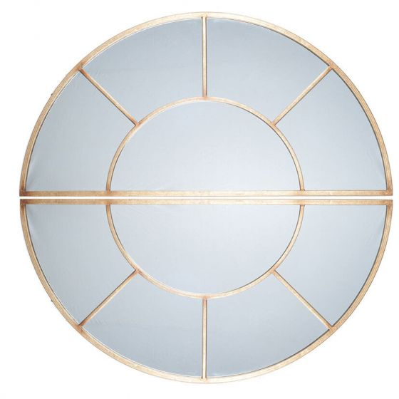 Antique Gold Set of 2 Oval Wall Mirror
