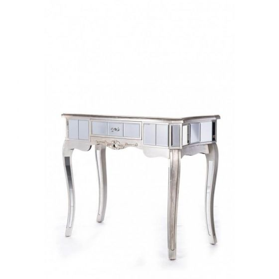 Antonia Shabby Silver Mirrored Console/Dressing Table